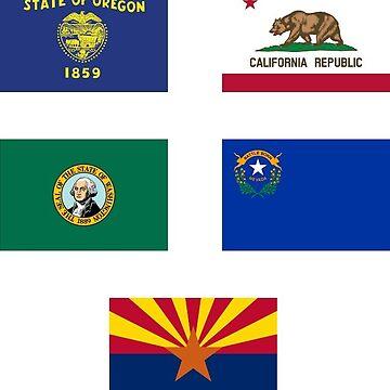 california, Oregon, Washington, arizona, nevada by Nolan12