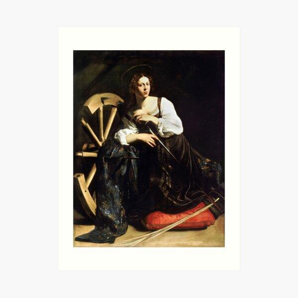 Saint Catherine of Alexandria by Caravaggio (c 1598) Art Print