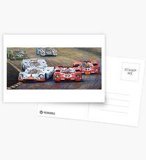 Ferrari vs Porsche 1970 Watkins Glen 6 Hours Postcards