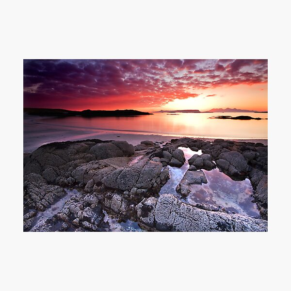 Fire in the Arisaig Sky Photographic Print