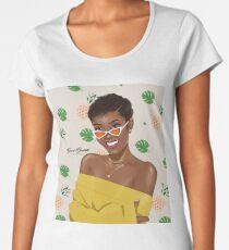 PINEAPLLES UND GELBE Frauen Premium T-Shirts