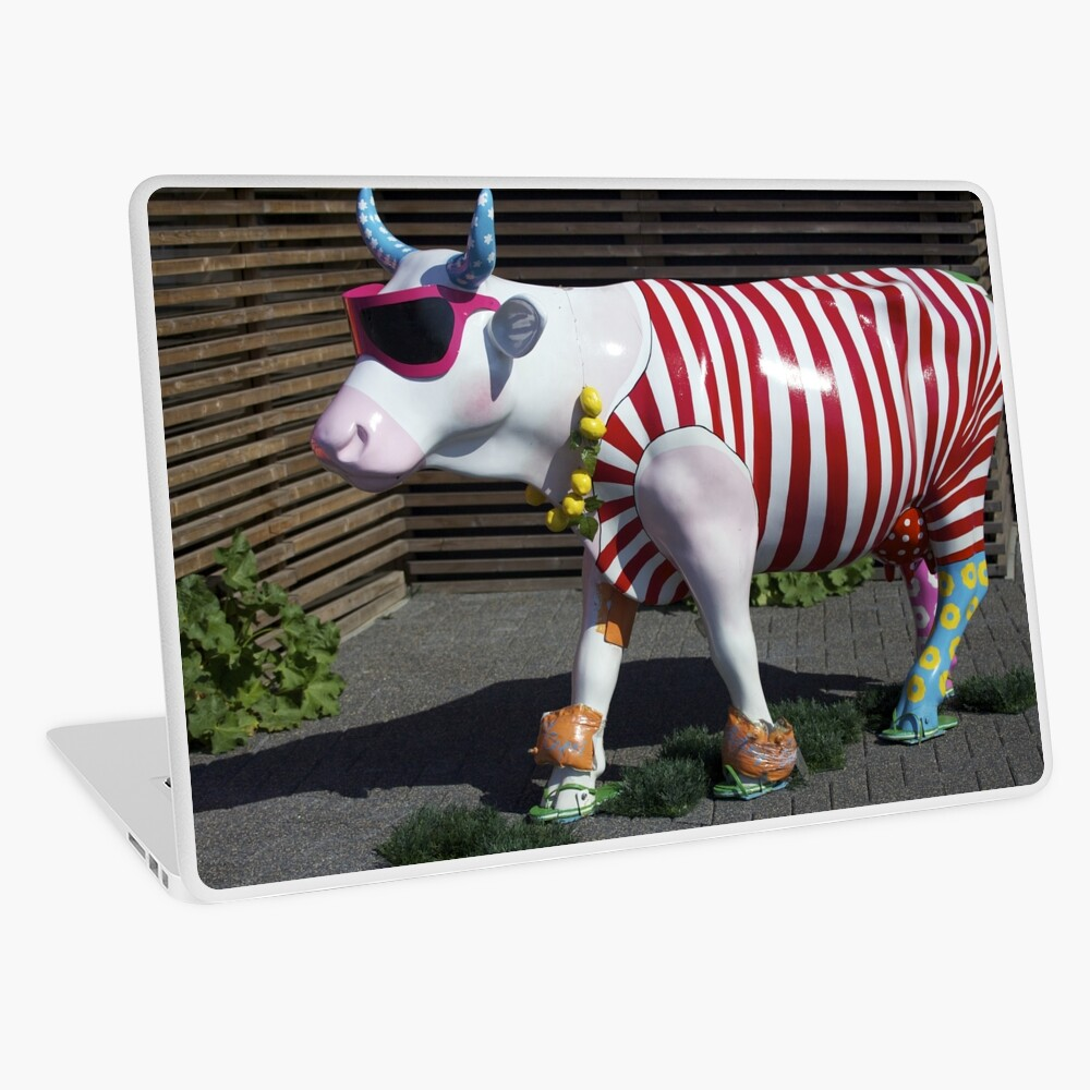 Painted Cow on Holiday - at Floriade Laptop Skin