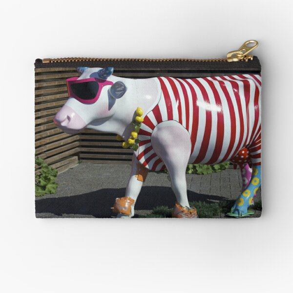Painted Cow on Holiday - at Floriade Zipper Pouch