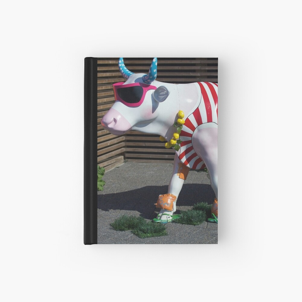 Painted Cow on Holiday - at Floriade Hardcover Journal