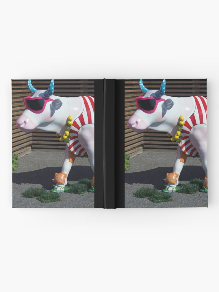Alternate view of Painted Cow on Holiday - at Floriade Hardcover Journal