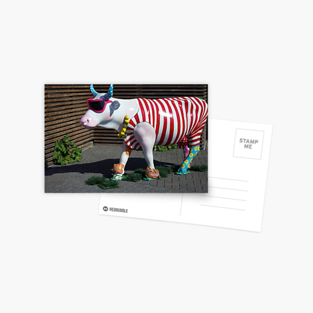 Painted Cow on Holiday - at Floriade Postcard
