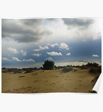 Dark blue sky and clouds Poster