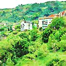Buildings in the green by Giuseppe Cocco