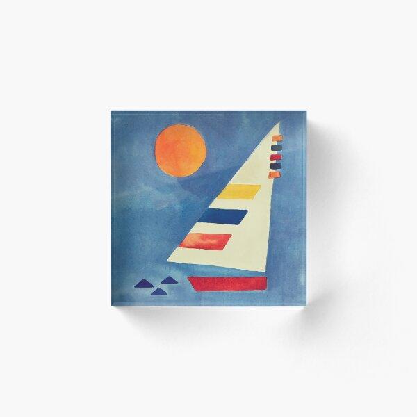 Simple Sailboat Acrylic Block