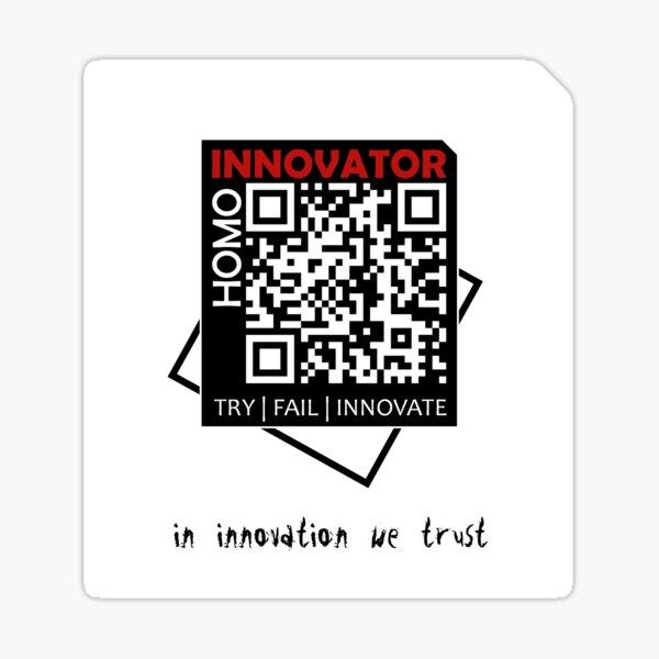 Homo Innovator   White Collection Sticker