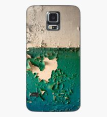 Wall with Peeling Green Blue and White Paint   Case/Skin for Samsung Galaxy