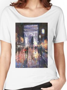 Paris Miting Point Arc de Triomphie Women's Relaxed Fit T-Shirt