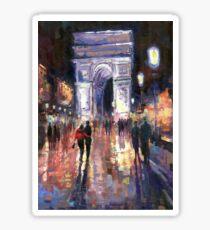 Paris Miting Point Arc de Triomphie Sticker