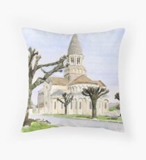 Eglise St. Maurice, Montbron, France Throw Pillow