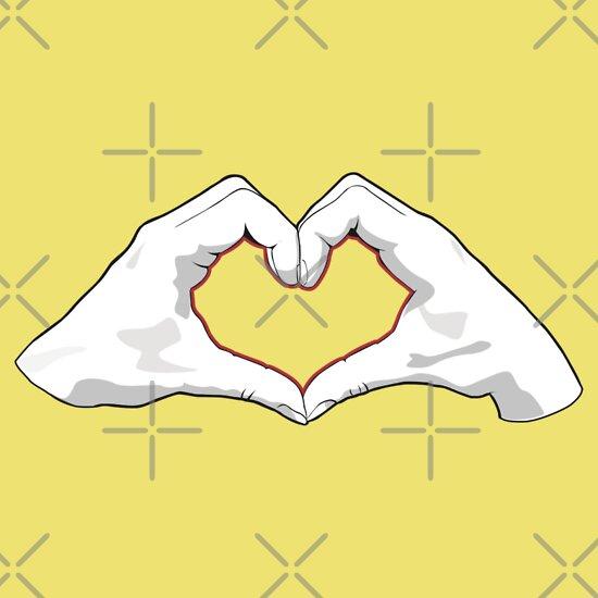 TShirtGifter presents: Heart hands
