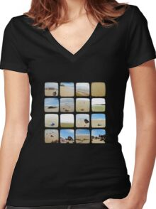 Beach Collective - TTV Women's Fitted V-Neck T-Shirt