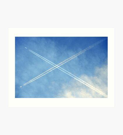 Crossing the Skies Art Print