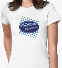 American Awesome Womens Fitted T-Shirt