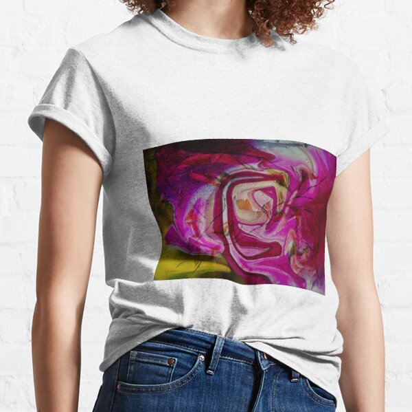 swirling pink abstract shapes Classic T-Shirt