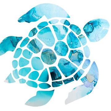 Sea Turtle Watercolor by dkozelian
