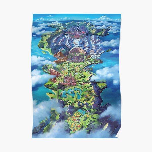 MAP POKEMON SWORD SHIELD HD Poster