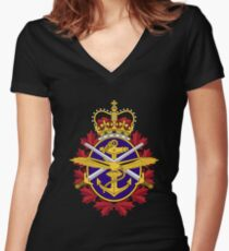 Canadian Armed Forces - Forces armées canadiennes Women's Fitted V-Neck T-Shirt