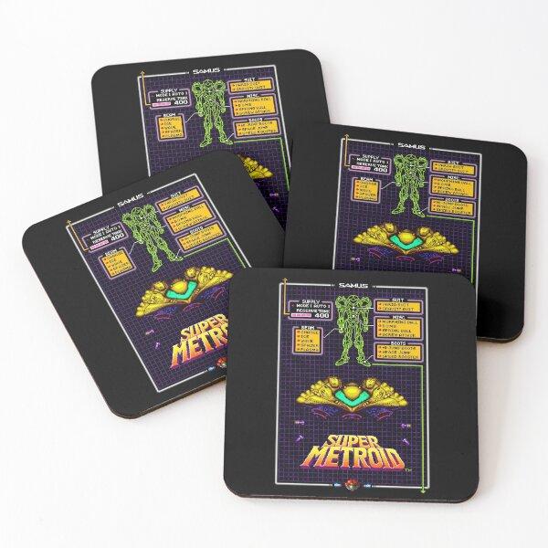 Super Metro!d vintage video game nostalgia theme Coasters (Set of 4)