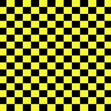Checkered Black and Yellow Flag by deanworld
