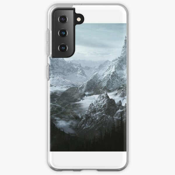 Skyrim Mountains Samsung Galaxy Soft Case