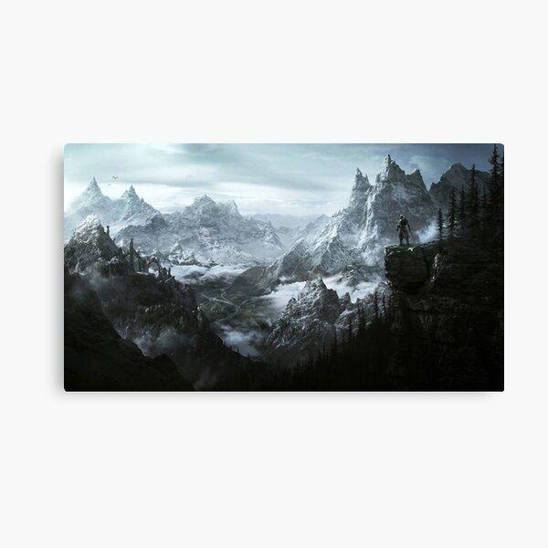Skyrim Mountains Canvas Print