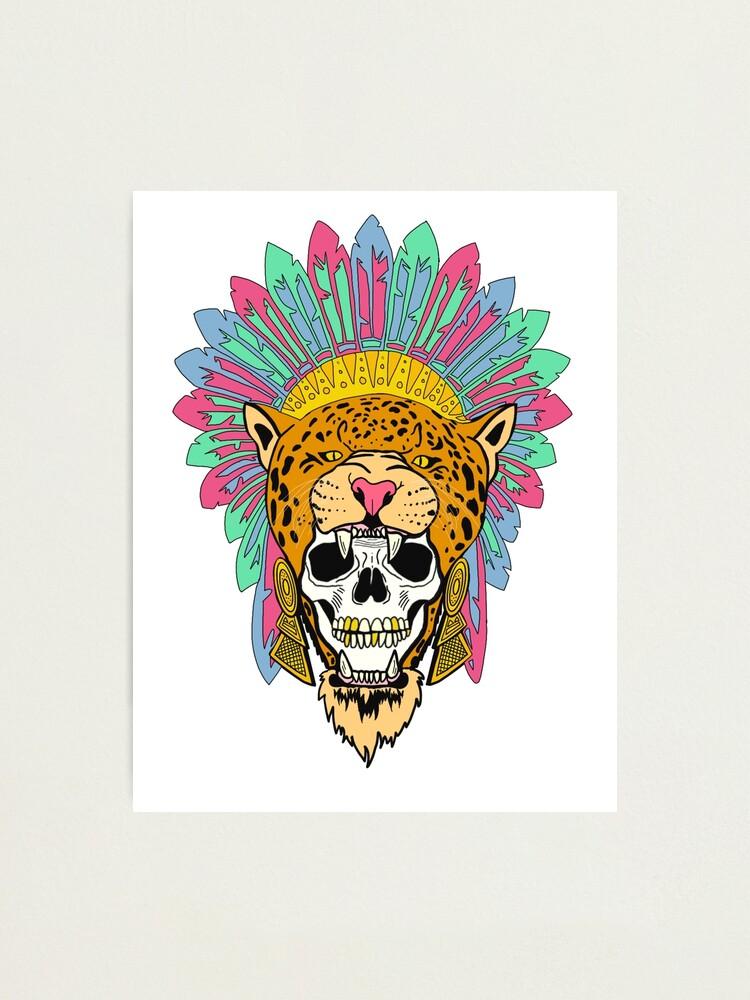 Aztec Jaguar Warrior Photographic Print By Josecorona17 Redbubble