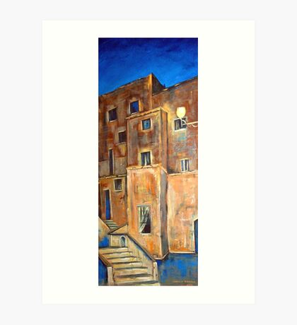 Back alley by night Art Print