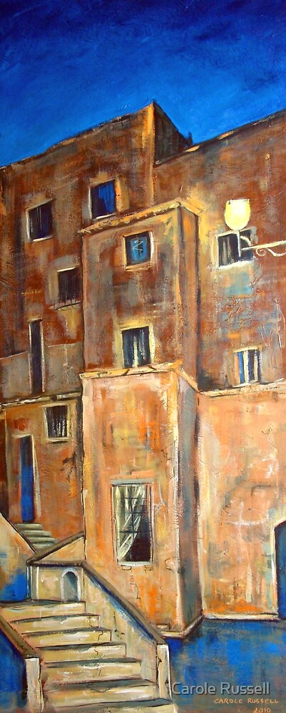 Back alley by night by Carole Russell