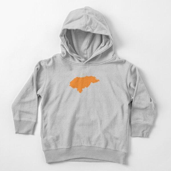 Amor de honduras en naranja Sudadera con capucha para bebé