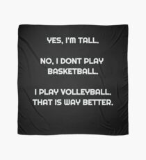 Volleyball saying funny Cool Scarf