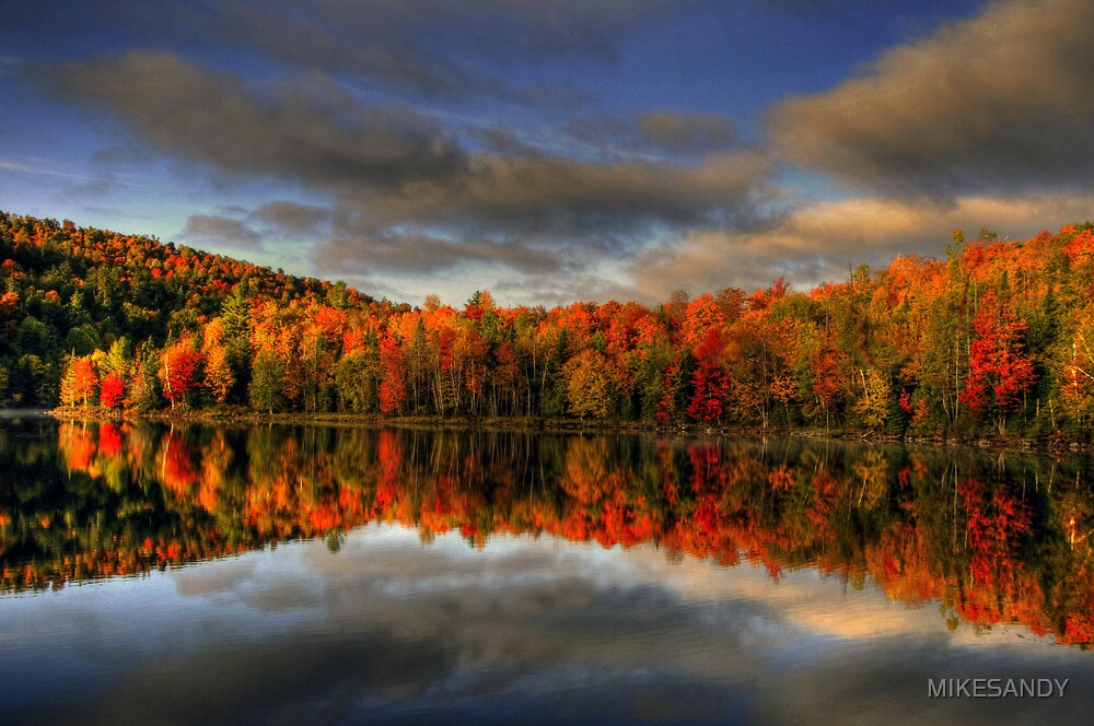 UNION POND AUTUMN by MIKESANDY
