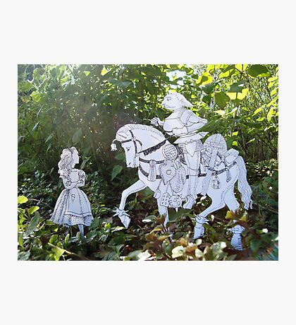 Alice and the White Knight Photographic Print