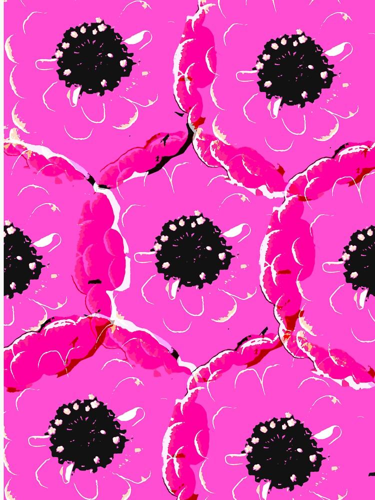 Pink Schwarz Big Blume von RanitasArt