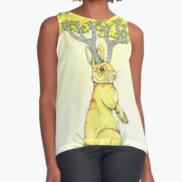 Woodland Hare Sleeveless Top