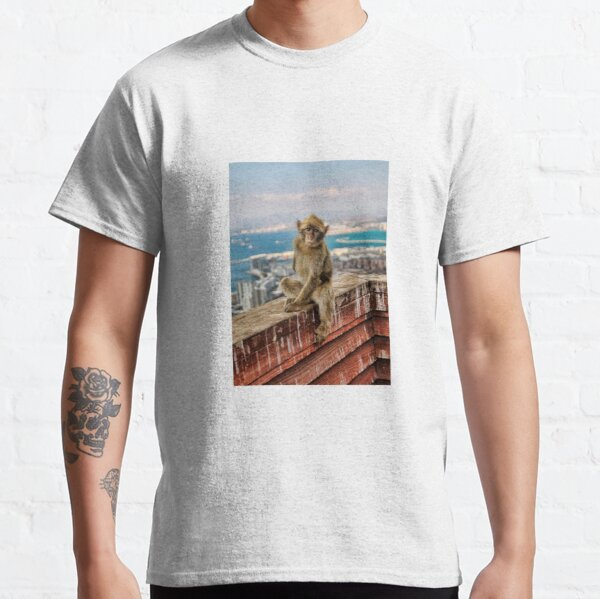 Gibraltar Barbary Macaques Monkey Classic T-Shirt