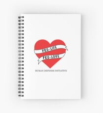 Pro-life Pro-love Spiral Notebook