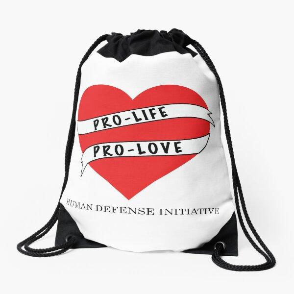 Pro-life Pro-love Drawstring Bag
