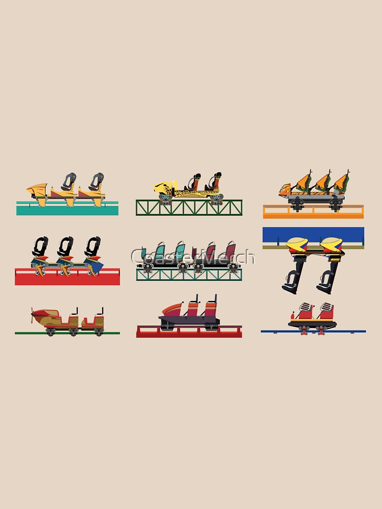Busch Gardens Africa Coaster Cars by CoasterMerch