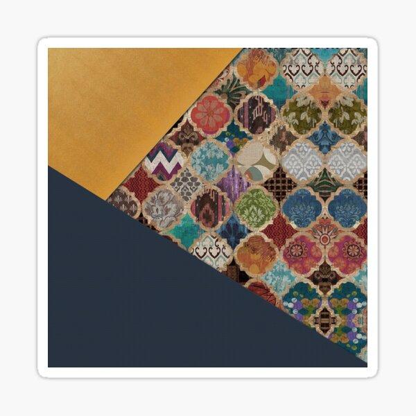 Blue & Yellow Modern Anthropologie Moroccan Decorating. Sticker