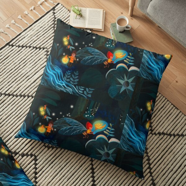 Fireflies Floor Pillow
