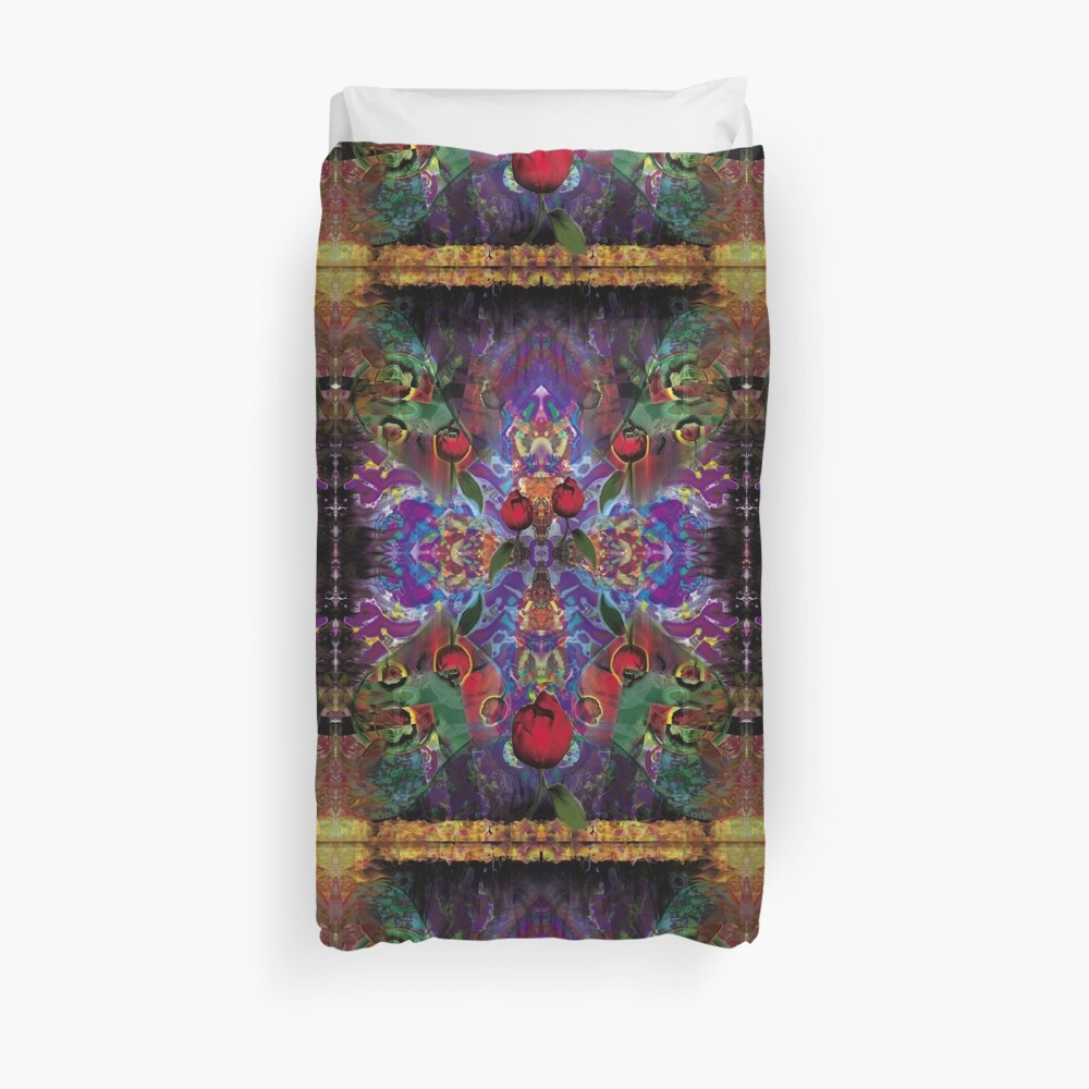 Vision with Tulips Duvet Cover