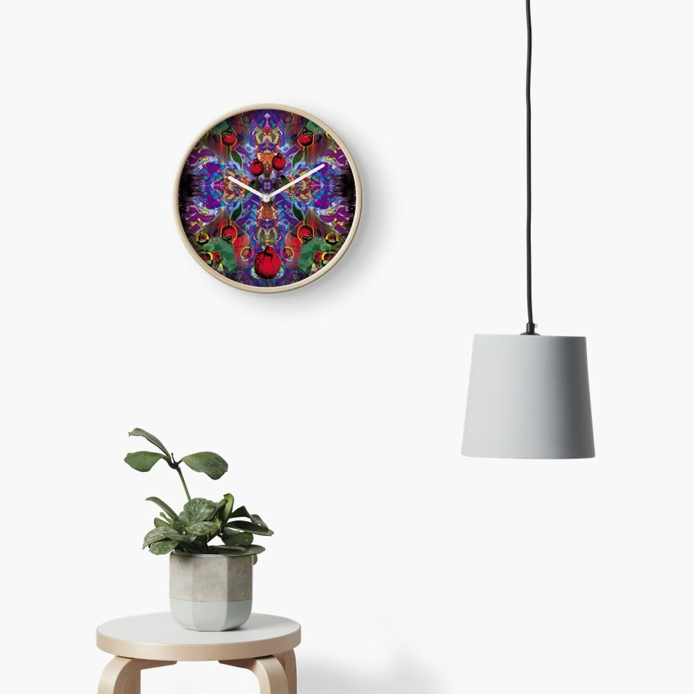 Vision with Tulips Clock