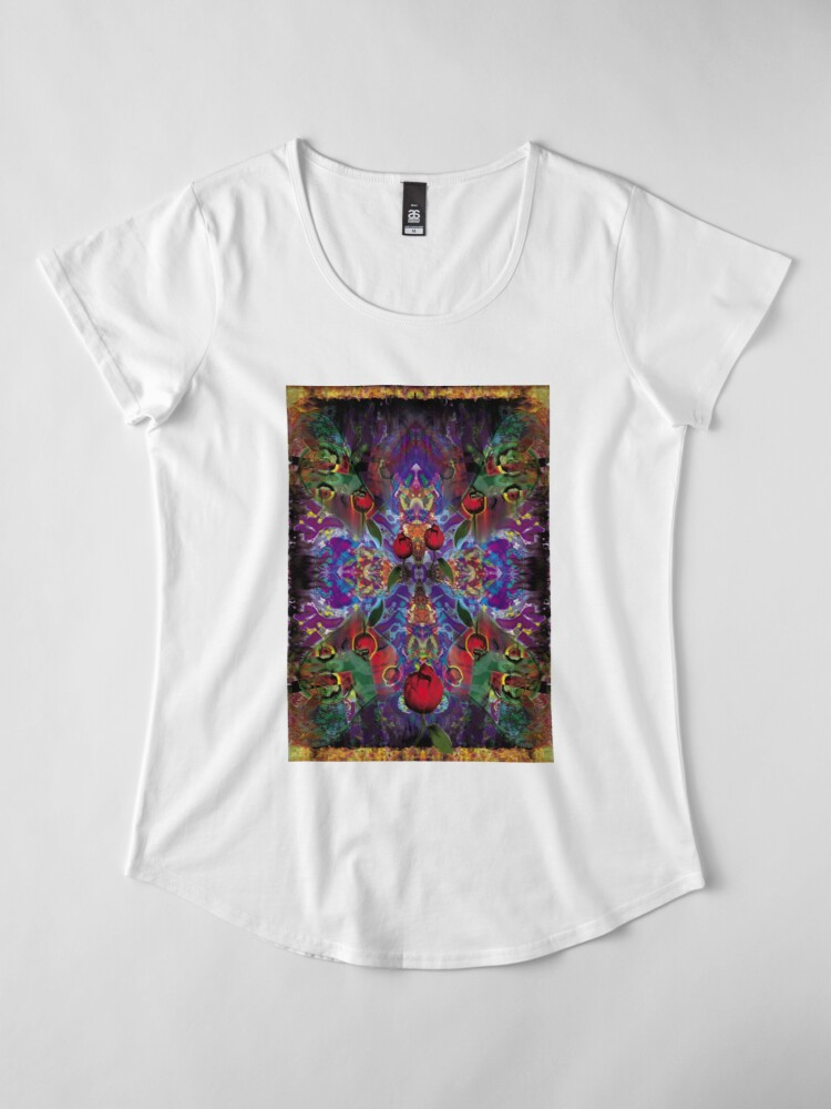 Alternate view of Vision with Tulips Premium Scoop T-Shirt