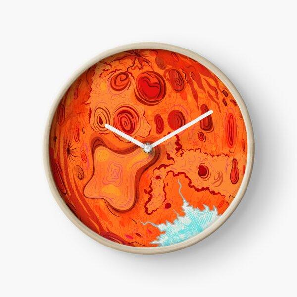 Mars Digital Art Illustration Clock