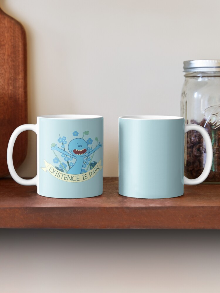 Alternate view of Existence is Pain Mug